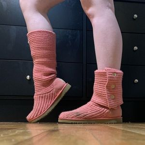 Limited Edition Pink Knit Ugg Boots